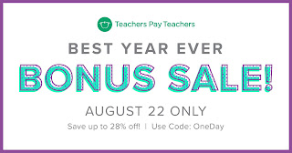 OneDay TpT Sale!