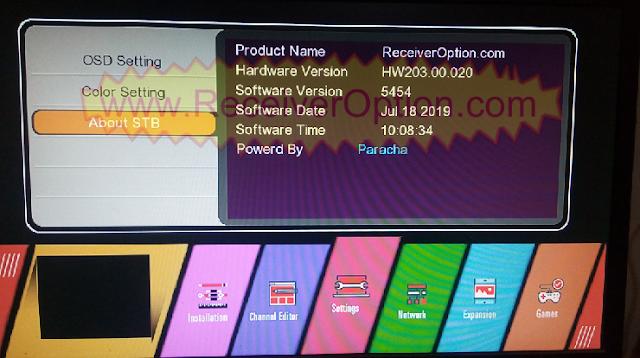 GX6605S HW203.00.020 TEN SPORTS & CCCAM OK NEW SOFTWARE WITH BEAUTIFUL MENU