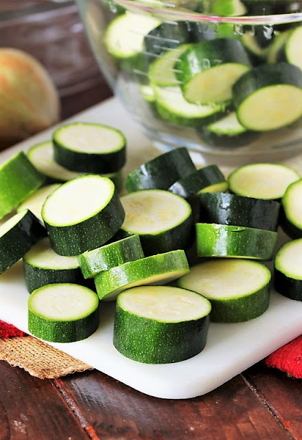 Thickly-Sliced Zucchini Rounds Image