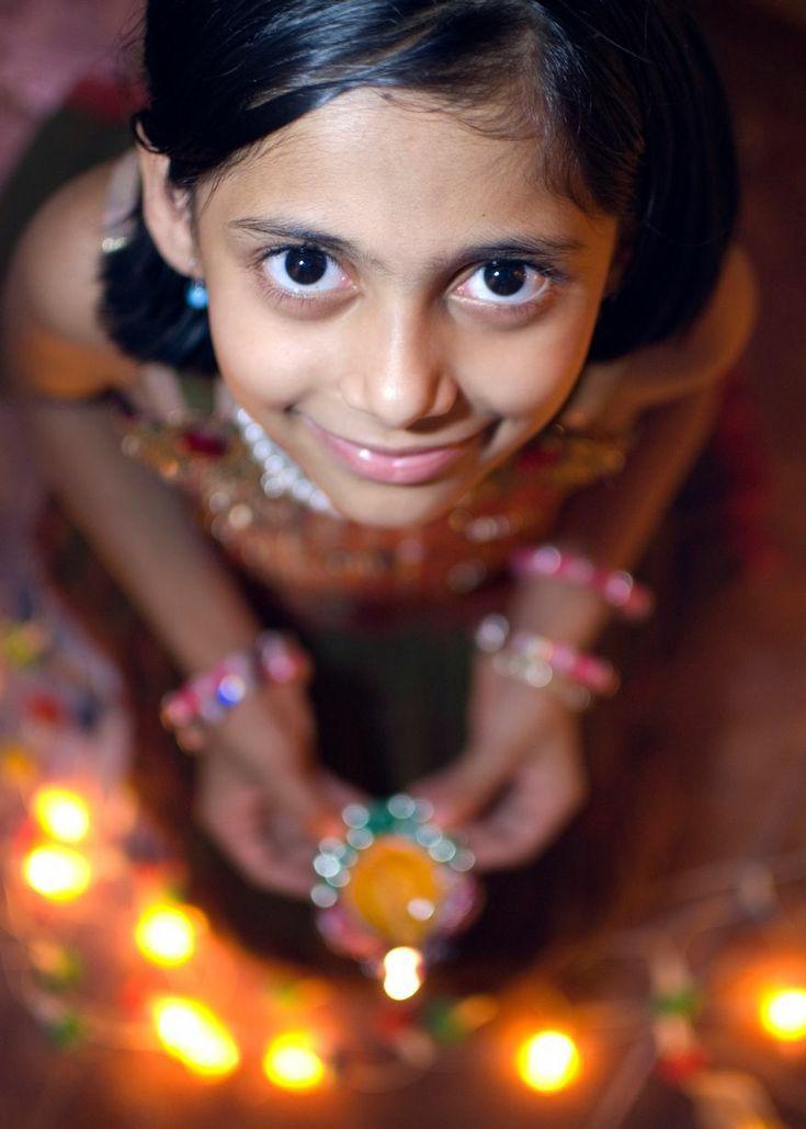 diwali photo pose for girl