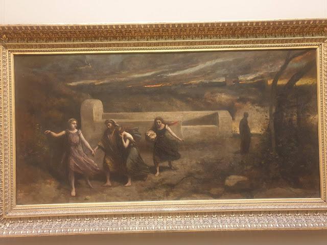 לוט בורח מסדום - קמיל קורוט 1843