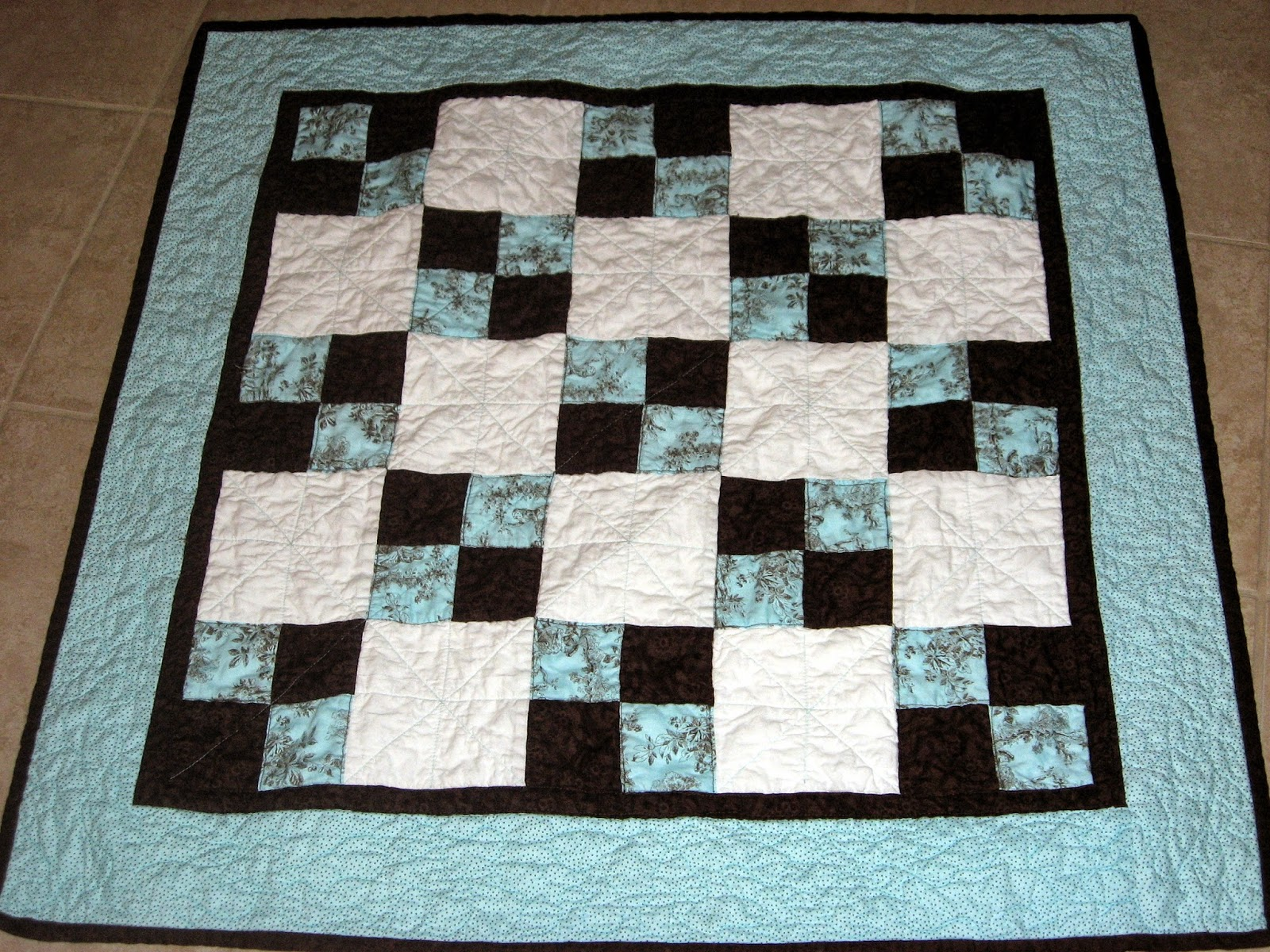 Just Plain Ivy Mint Chocolate Quilt Pink And Green Quilt