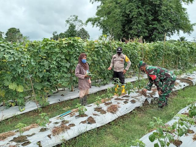 Kompak Babinsa-Bhabinkamtibmas Sambang Desa Dan Bantu Warga