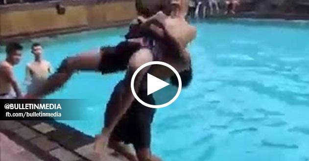 VIDEO : Lelaki Terhentak Kepala Di Tepi Kolam