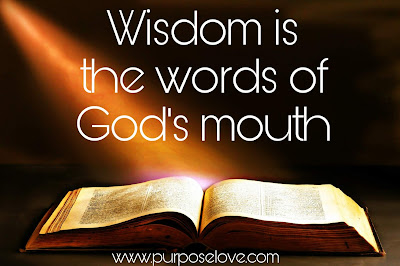 Wisdom is the Words of God's Mouth