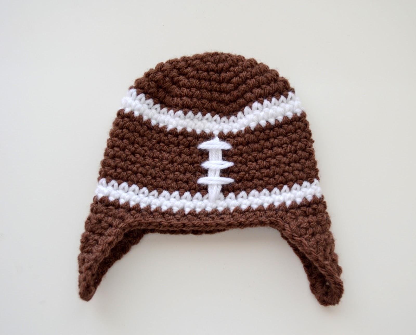 Crochet Baby Football Helmet Hat Pattern