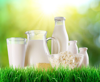 молоко в кувшине и бутылках