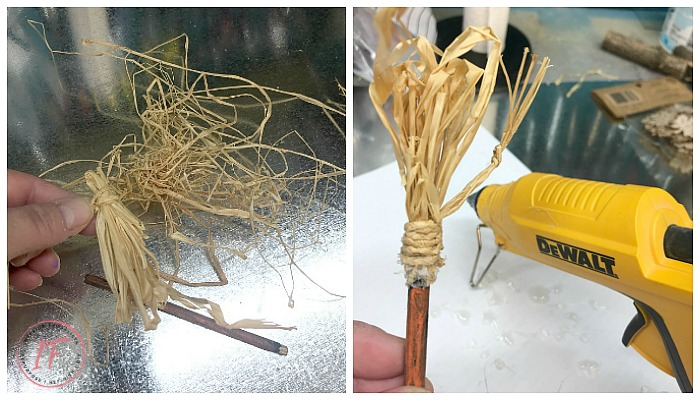 DIY Halloween Lantern Mini Witch Broom Assembly