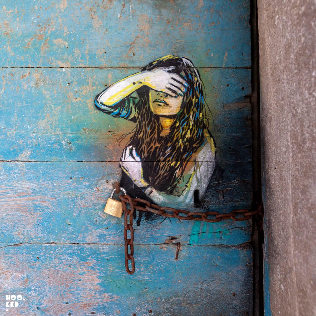 Beautiful Italian Street Art By Alice Pasquini In Civitacampomarano, Italy