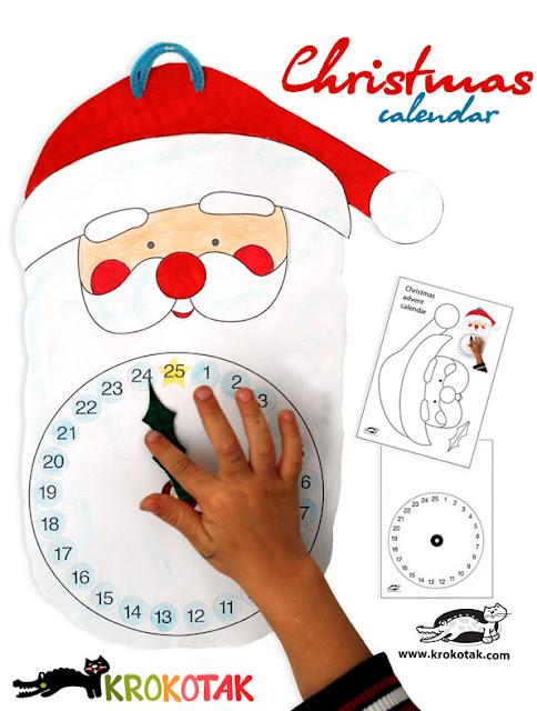 Calendario de adviento para niños Papa Noel