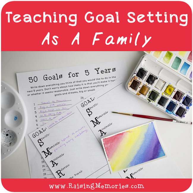 Free Printable Family Goal Setting Worksheets
