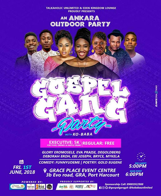 Event | Talkaholic Unlimited and Eden Kingdom Lounge Present: An Ankra Outdoor Party - Gospel Gang Party