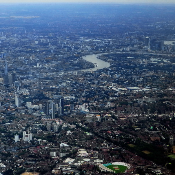 by Air London City Stadt Innenstadt Flug Flugsicht Flugbild