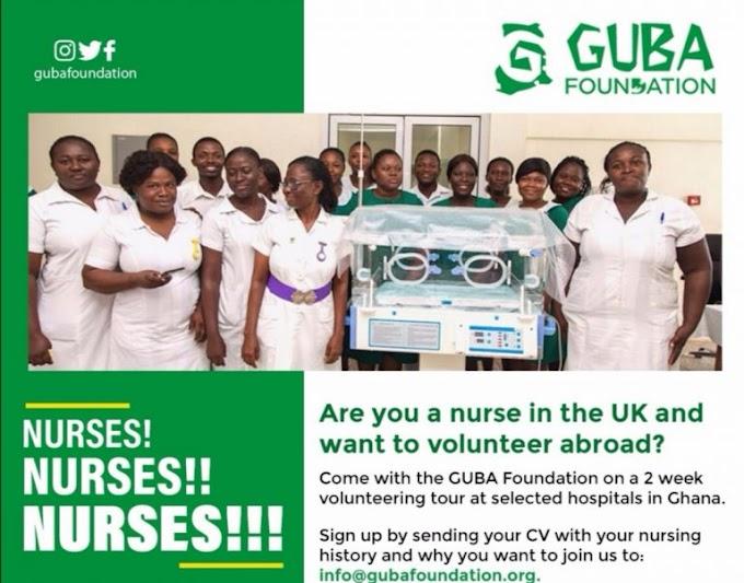 UK Nurses to partake in GUBA Foundation volunteering programme in Ghana