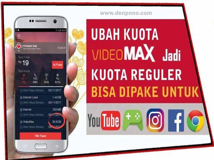 Cara Mengubah Kuota Videomax Menjadi Kuota Flash Reguler Terbaru Denpono Blog