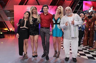 Flavia Pavanelli, Léo Áquila, Celso, Carol Bittencourt e Miranda - Crédito: Leonardo Nones/SBT