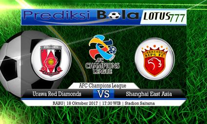 Prediksi Pertandingan antara Urawa Red Diamonds vs Shanghai East Asia Tanggal 18 Oktober 2017