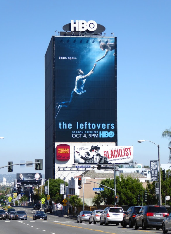 The Leftovers giant season 2 billboard Sunset Strip