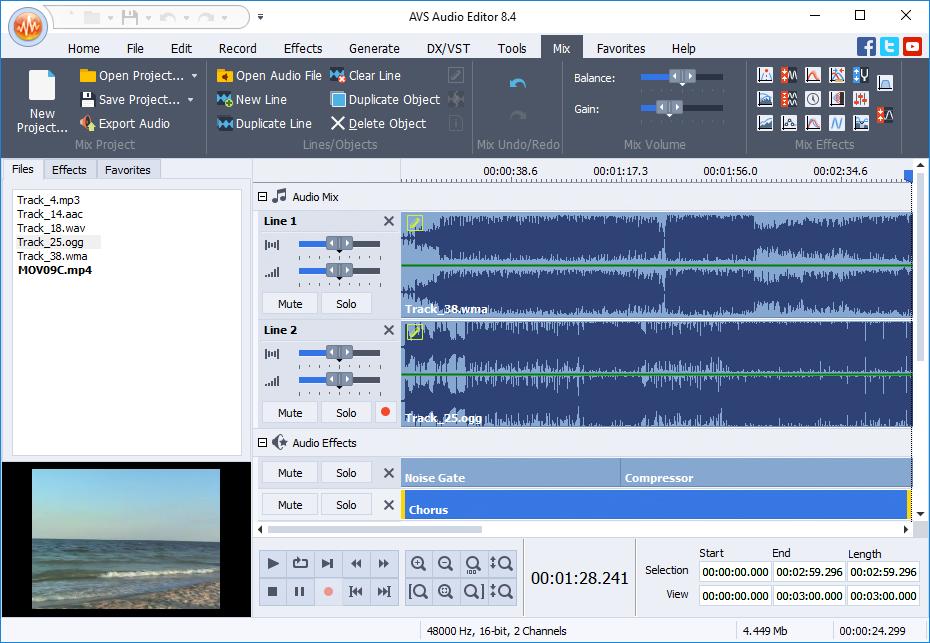 AVS Audio Editor v10.0.2 - Chỉnh sửa âm thanh cho máy tính