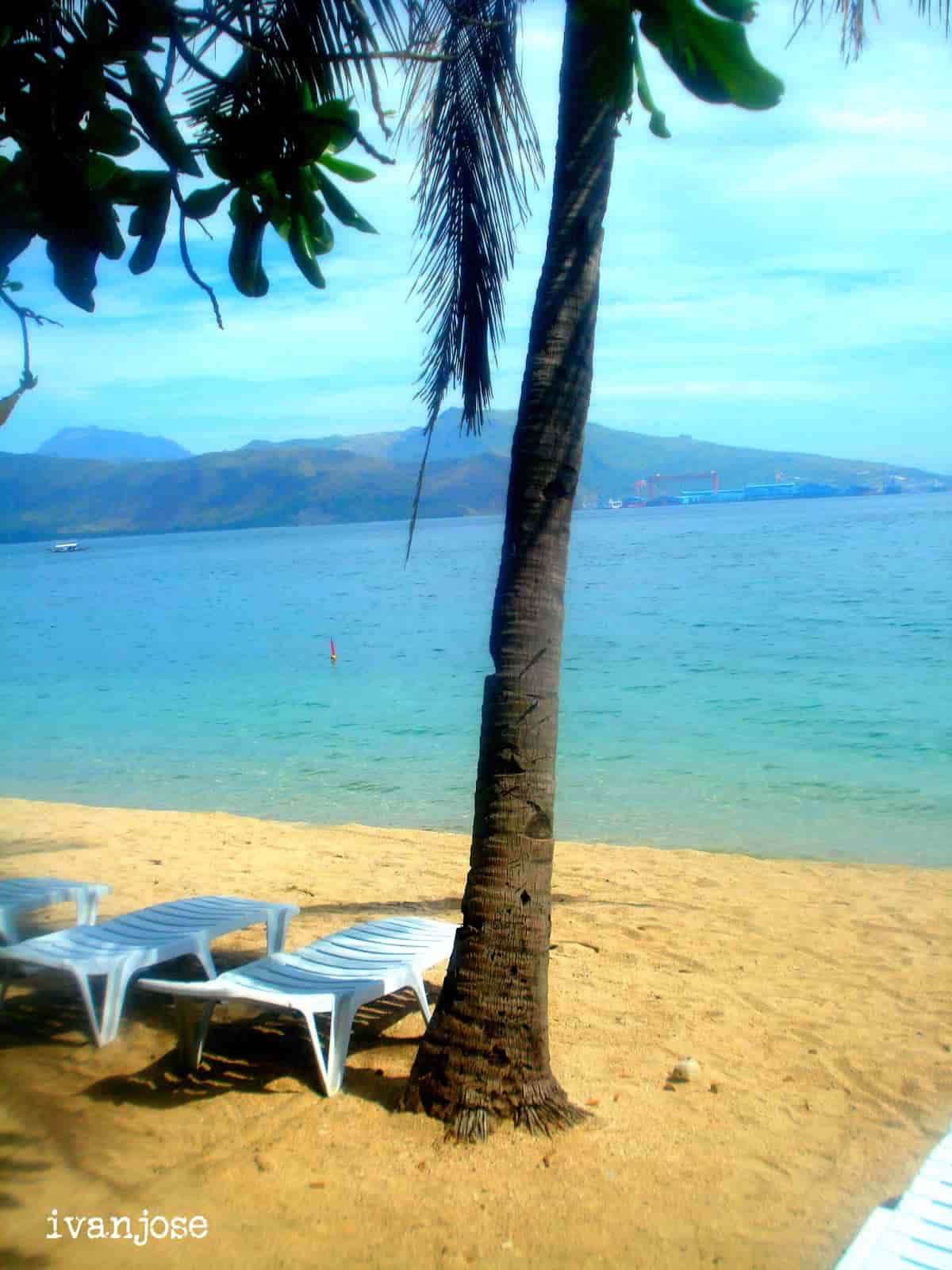 View of the beach at Grande Island Resort