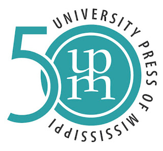 logo for university press of mississippi stylized u p m and 50