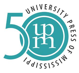 logo for university press of mississippi stylized u p m and 50