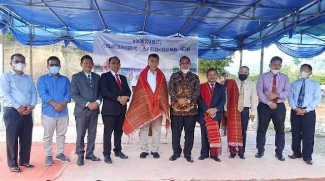 Bupati Natuna bersama Anggota DPRD Natuna Menghadiri Peletakan Batu Pertama  Pembangunan Gereja HKBP Ranai