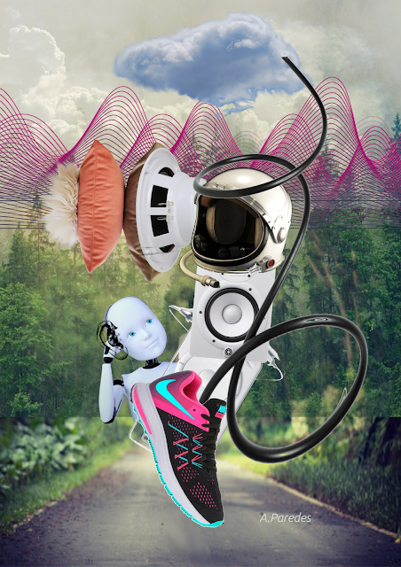 Collage in ear Alexis Paredes