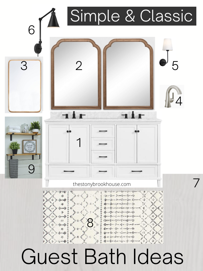 Guest Bath Plans And Mood Board