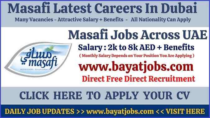 Masafi Careers In Dubai & Across Latest Vacancies