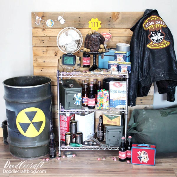 Attention all Vault Dwellers: This is the party you'll want to get out of cryosleep for! Plan the perfect, totally geeked out Fallout themed party! If you've played the game, you know. It's a post-apocalyptic environment set in the year 2077, but everything has an old school 1950's vibe.   It's an open world game, so you can go wherever you want, whenever you want. I take days off of doing quests just to build up and decorate my settlements. I really ended up loving the game so much, I had to do a themed party to celebrate my completion of the game.