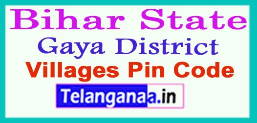 Gaya District Pin Codes in Bihar State