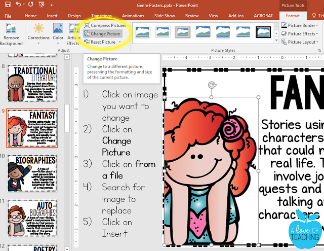 How to use the Change Picture Tool in PowerPoint