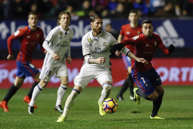 موعد مباراة ريال مدريد واوساسونا الدوري الاسباني اليوم الاحد 2020 / 02 / 09 والقنوات الناقلة