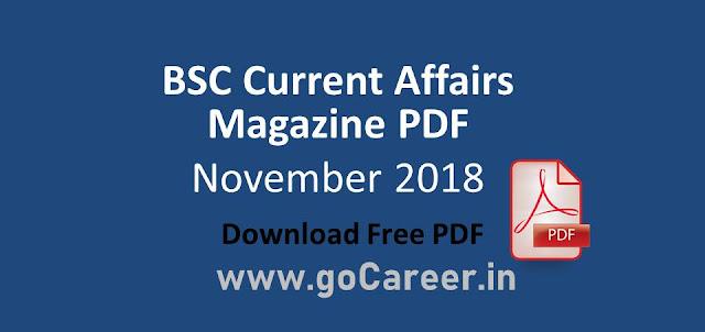 Download BSC Magazine November 2018 PDF