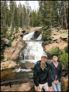 Hubby and daughter at Upper Provo River Falls