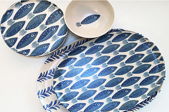fish designed outdoor dishes