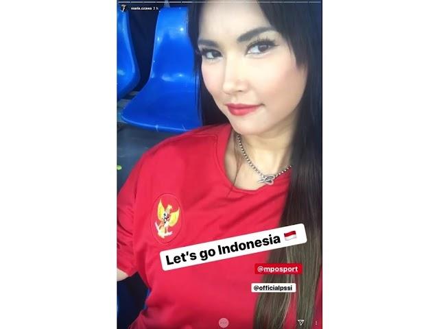 Sesosok Maria Ozawa terlihat di laga SEA Games 2019 Indonesia U-22 melawan Thailand U-22
