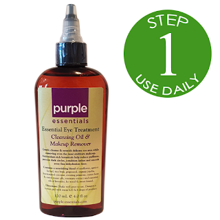 Purple Essentials All Natural Essential Eye Cleansing Oil & Makeup Remover
