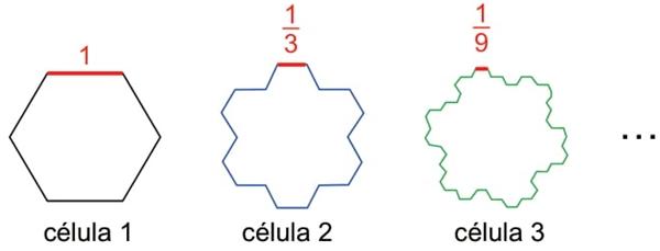 Considere que a célula 1 circunscreva a 2, como mostra a figura a seguir