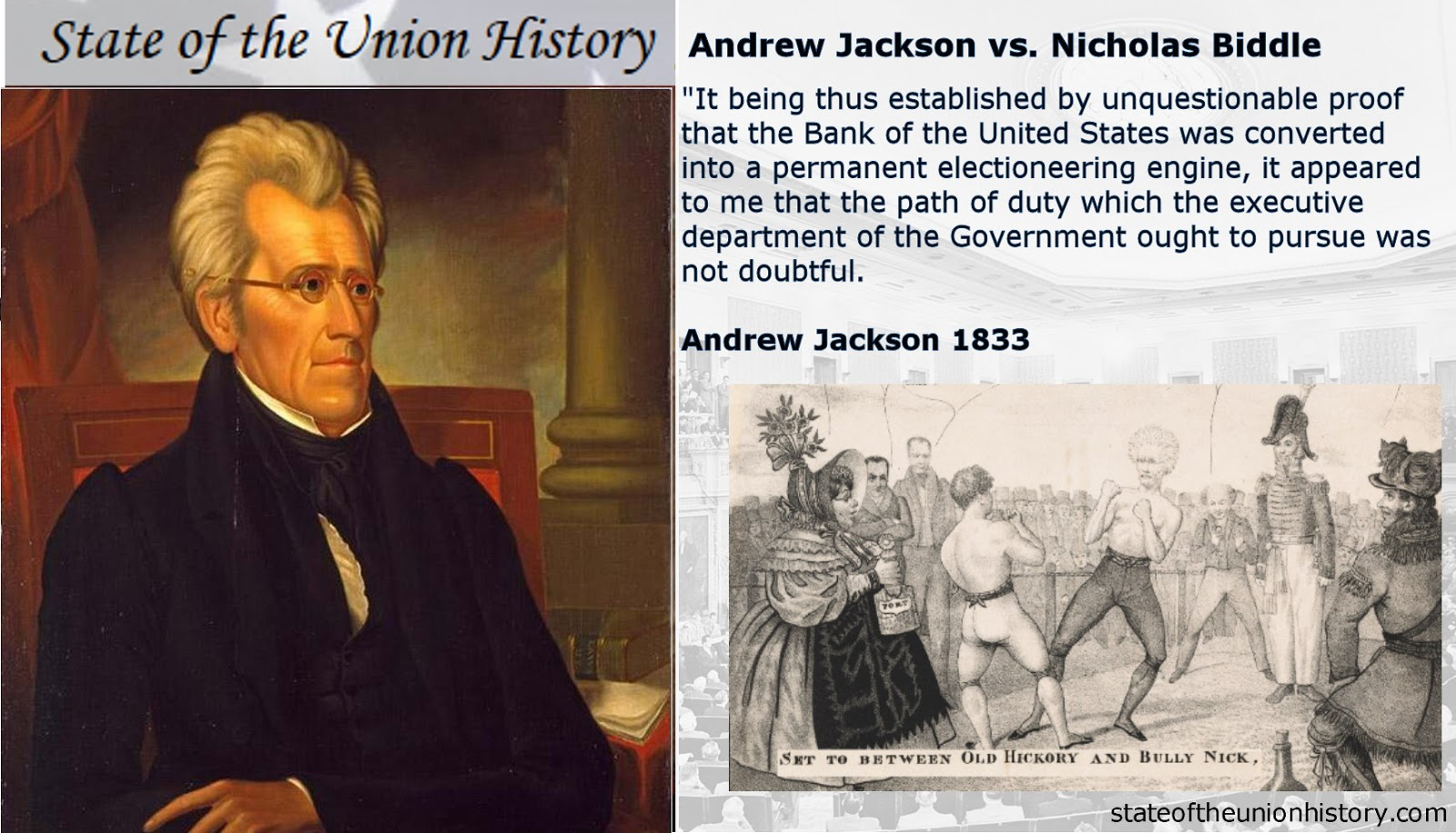 1832 Andrew Jackson Did Nicholas Biddle Try To Buy A Presidential Election State Of The Union History