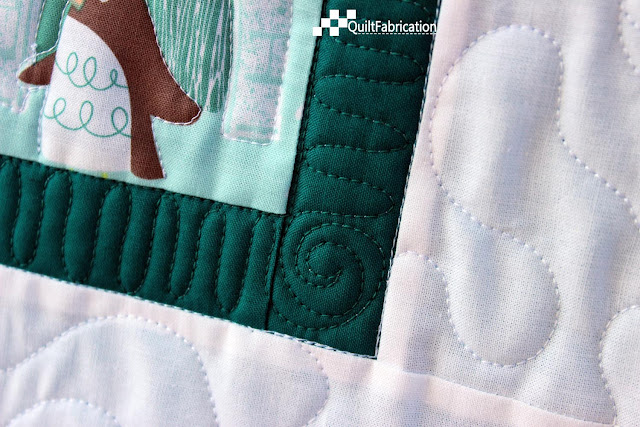 Polar Ice quilting closeup