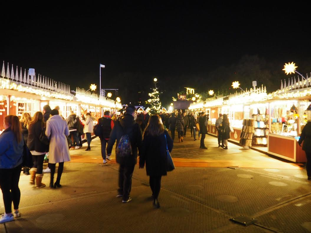 Winter Wonderland market stalls