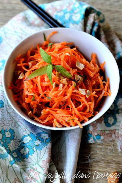 salade-carotte-vietnamienne-cacahuètes-crudités