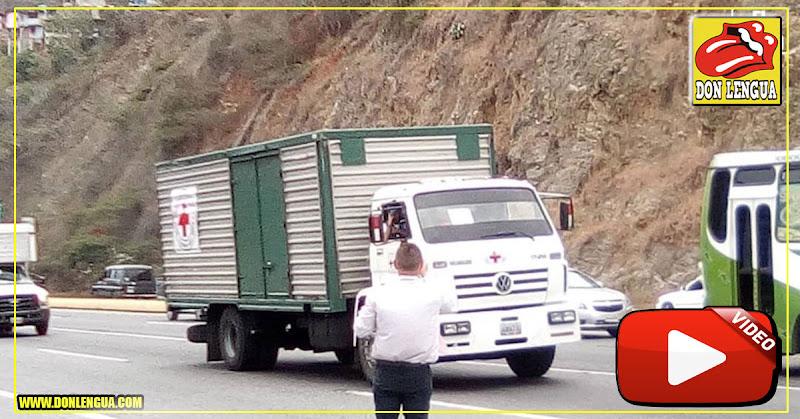 Parte de la ayuda humanitaria llega a Maiquetía y viene hacia Caracas