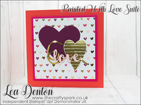 Painted With Love and Heart Happiness Valentine Card