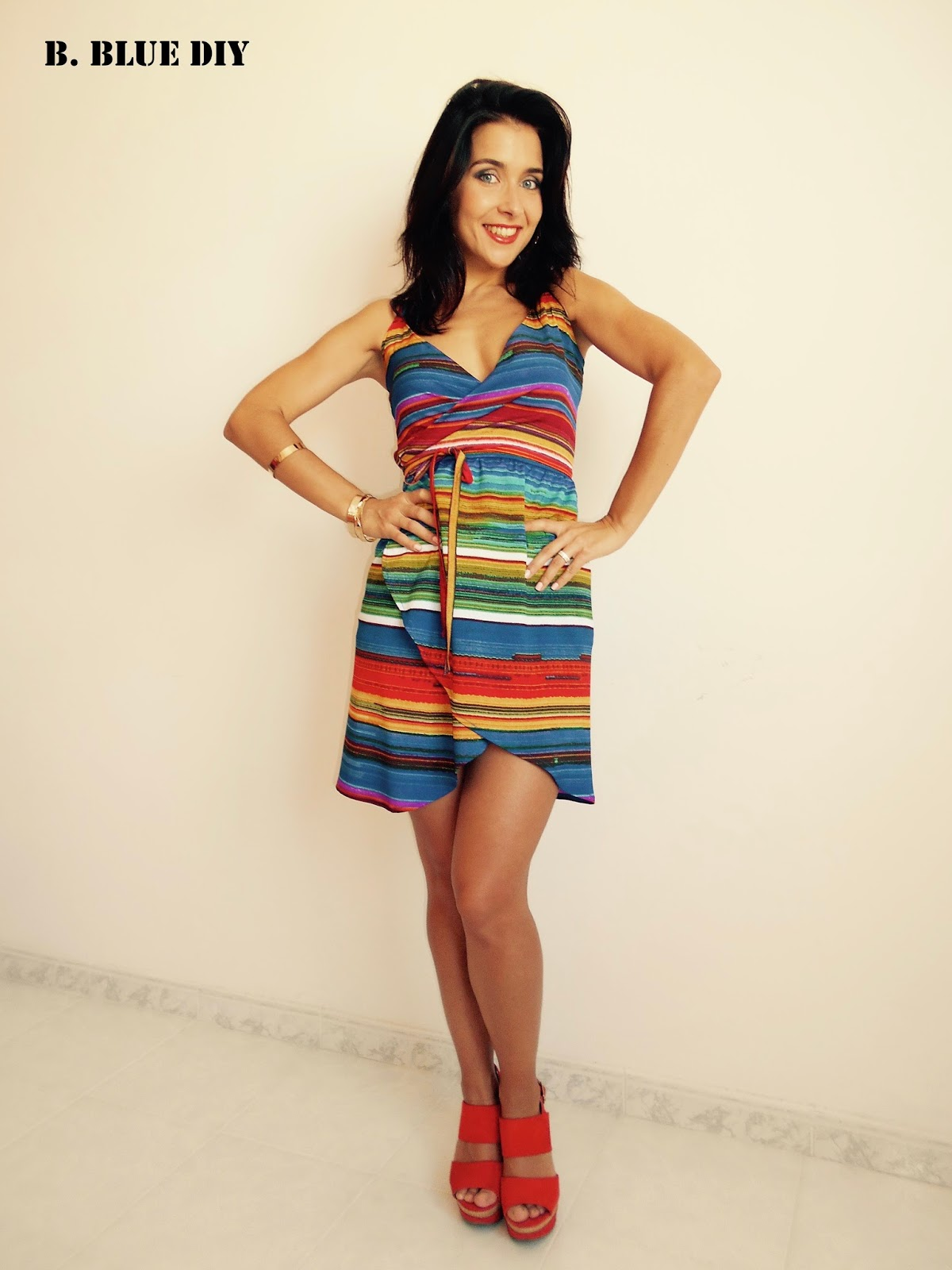 DIY Wrap Dress, sin patrones!