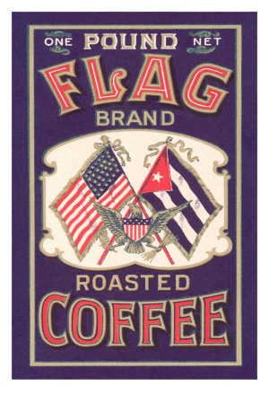 Flag Coffee Label