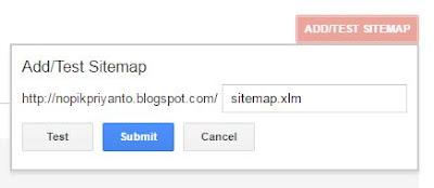Mengatur sitemap blog webmaster