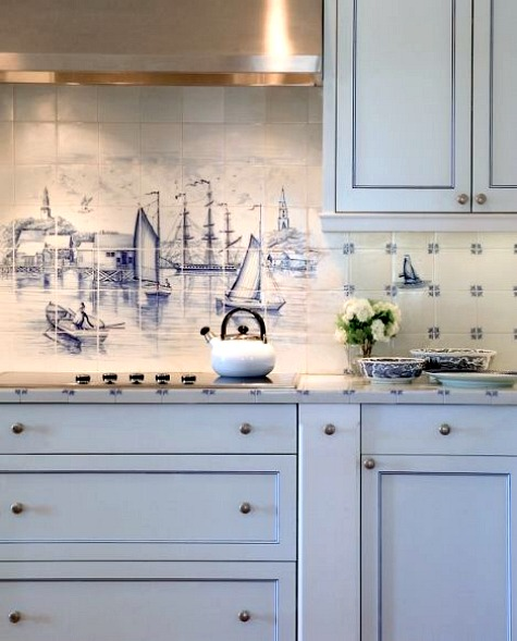 coastal kitchen backsplash ideas tiles beach murals ceramic tile mural kitchen tiles